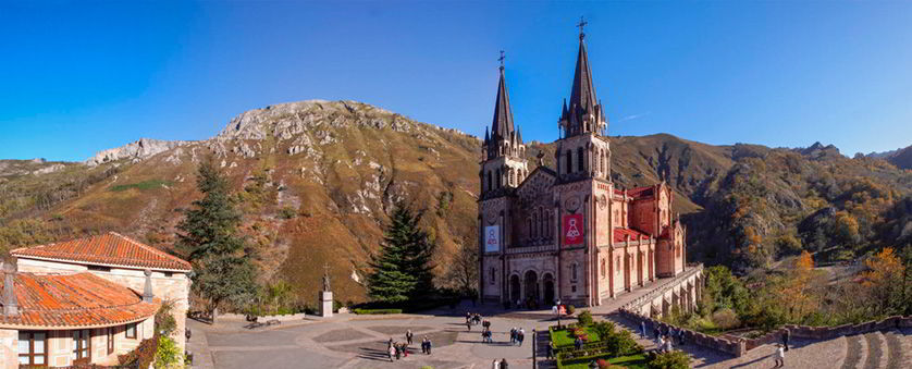 View of the Basilica of Covadonga