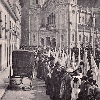 Coronation of the Virgin in 1918