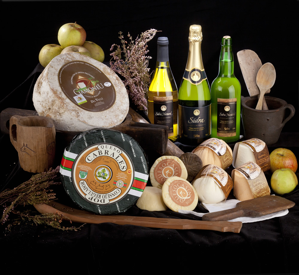 cider and cheese from Asturias