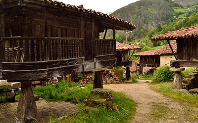 Group of granaries in Espinaréu