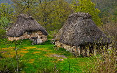 Traditional Teito Cabins in the Saliencia Valley
