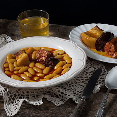 Fabada (typical Asturian pork and bean stew)