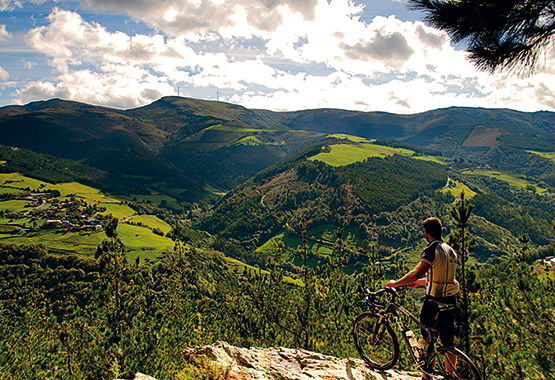 Mountainbike in Ruta de las Minas (Vegadeo)