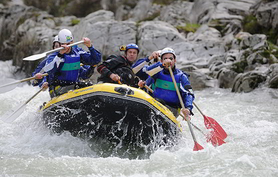 Rafting. Río Sella.